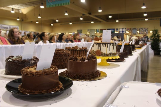 More than 80 home bakers entered the 60th Annual Gerry Frank Chocolate Layer Cake Contest at the Oregon State Fair on September 1, 2019.
