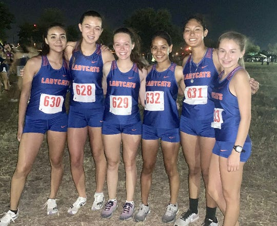 The San Angelo Central girls cross country team won the San Antonio Spartan cross country meet Friday, Aug. 30, 2019. Claudia Mares (632) was seventh overall to lead the Lady Cats.