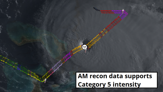 Sunday morning recon data shows Dorian has become an extremely dangerous Cat 5 hurricane.
