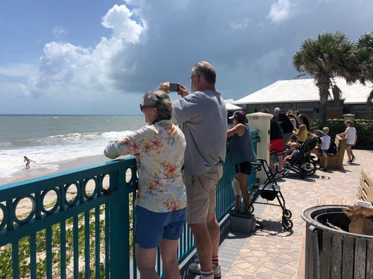 A wave of Indian River County locals flock to the beach Sunday, Aug. 1 ahead of Hurricane Dorian's arrival.