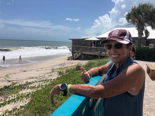 "Maria Shelton, 71, retired and moved to Vero Beach just two months ago from Texas, she said. Despite being in hurricane territory, Shelton said: ""I'm having just the happiest time in Florida."""