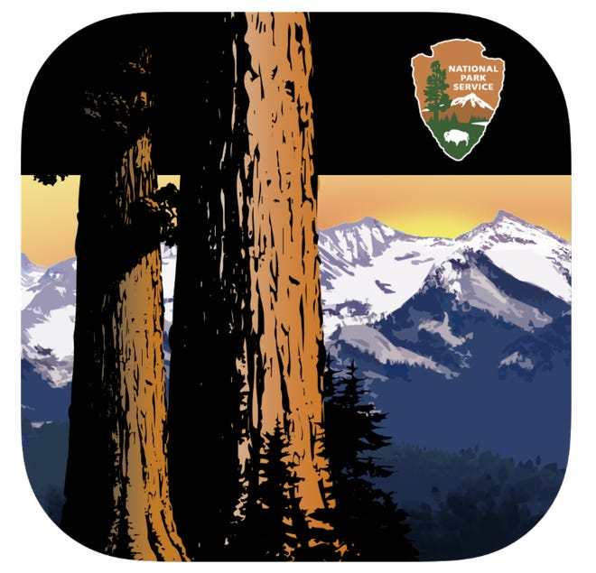 On Wednesday, Sequoia and Kings Canyon national parks announced a new smartphone application that allows users to track their favorite trails, attractions and sights. Pictured here is the app icon.