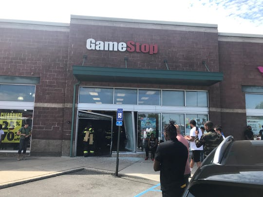 A car crashed through the storefront of a GameStop located in Pelham Manor on Sunday, Sept. 1, 2019.