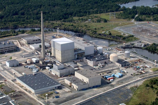 "Oyster Creek Nuclear Power Plant in Lacey Township is shown early Sunday, September 1, 2019.  The flight was done with volunteer pilots from LightHawk on a mission for the University of North Carolina at Chapel Hill to study ""King Tides."""
