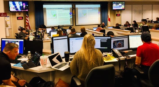 "Brevard County's Emergency Operations Center in Rockledge now is at ""Level 1 activation."""