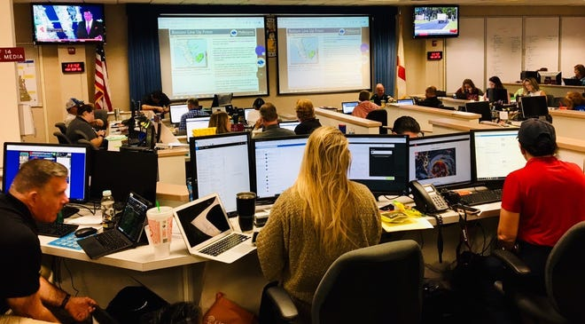 """Brevard County's Emergency Operations Center in Rockledge now is at """"Level 1 activation."""""""