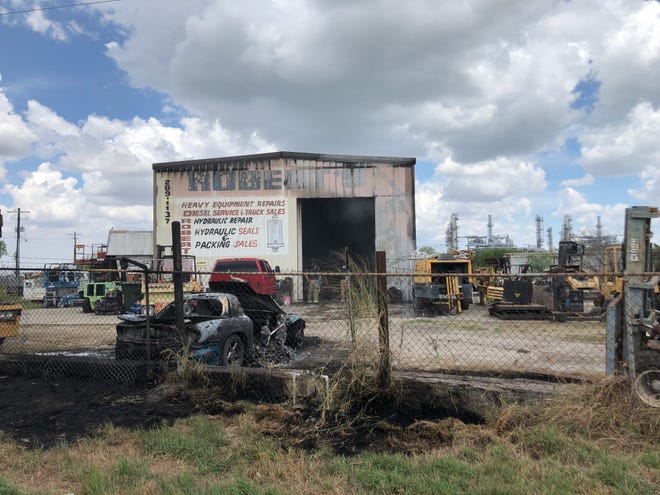 The Corpus Christi and Annaville fire departments responded to a structure fire and a vehicle fire on the same property Monday afternoon.