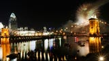 Watch as the Western & Southern WEBN fireworks light up the Ohio River and then smoke comes rolling in.