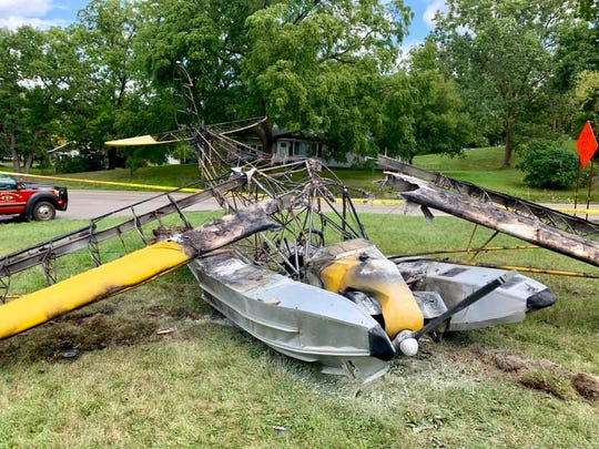 A plane crashed and caught on fire in an Independence Township yard Sept. 2. The pilot and passenger sustained minor injuries.