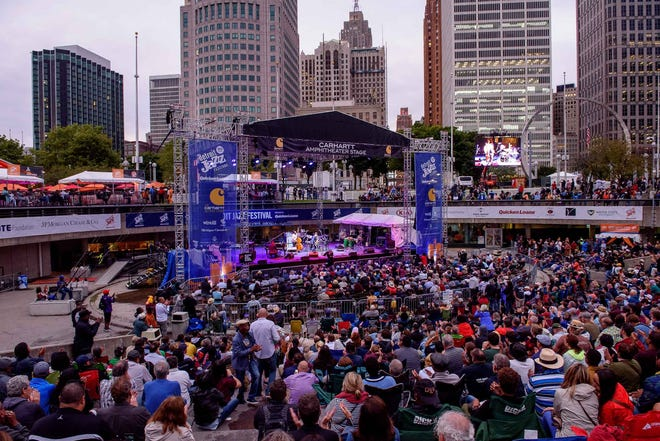 It was a cool night at the 40th Annual Detroit Jazz Festival on Sunday, Sept. 1, 2019.