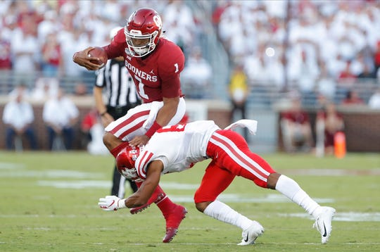 Image result for Jalen Hurts oklahoma Photos Against Houston