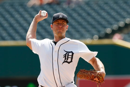 Jordan Zimmermann pitched six solid innings Monday for the Tigers.