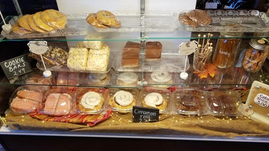 Pastries at the new Kite and Key Coffee and Tea include bars, cookies, cinnamon rolls, Rice Krispie treats and more.