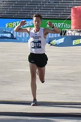 Colorado State's Eric Hamer, shown winning the citizen's race at the 2019 Fortitude 10K, won the 5,000 meters and finished second in the 3,000 at the Mountain West indoor track championships in Albuquerque, N.M., to help the Rams win the title for third time in four years.