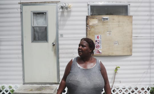 Dee Dee Daniels, a resident of Riviera Beach, Florida lives in a mobile home at Ocean Tide Trailer Park. She lives in a hurricane evacuation zone. She planned on staying unless the storm took a path towards her home on Monday, September 2,  2019.