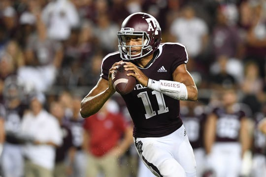 Texas A&M quarterback Kellen Mond (11) on Saturday hopes to help avenge the Aggies' narrow loss to Clemson in 2018.