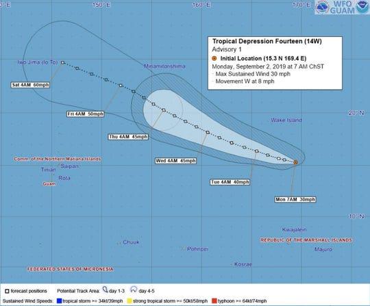 Tropical Depression 14W