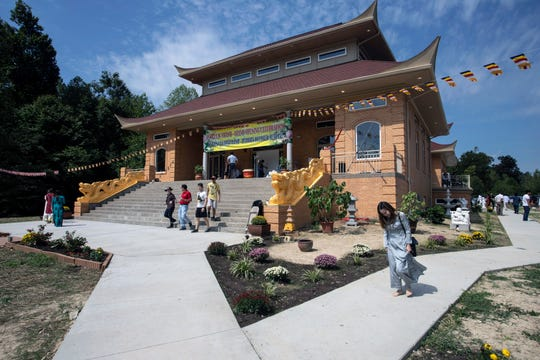 The Buddha Blessed Temple at 7748 Third Street Road is the largest Buddhist center in the Midwest with 15.5 acres of land and a 14,000-square-foot building. Sept. 1, 2019