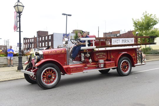 Several antique fire trucks participated in the 2019 Labor Day Parade in Mansfield.