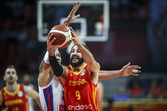 Ricky Rubio is averaging 17 points in leading Spain to a 2-0 start in World Cup Play