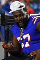 Buffalo Bills offensive guard Quinton Spain is back to practice.