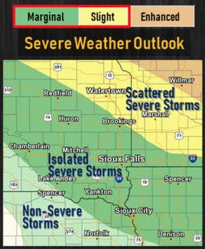 The National Weather Service warns there's a threat of Labor Day thunderstorms.