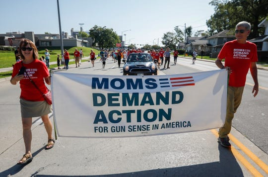 The Springfield chapter of Moms Demand Action for Gun Sense in America will host a candlelight vigil 4:30 to 5:30 p.m. Saturdayin the Victims Memorial Garden at Phelps Grove Park. This is a file photo from the 2019 Labor Day Parade.