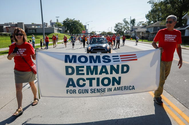 The Springfield chapter of Moms Demand Action for Gun Sense in America will host a candlelight vigil 4:30 to 5:30 p.m. Saturday in the Victims Memorial Garden at Phelps Grove Park. This is a file photo from the 2019 Labor Day Parade.