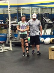 Cassidy Davis went to physical therapy three times a week during recovery from an ACL tear.