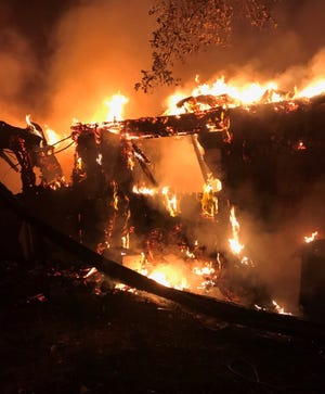 An early morning fire Monday caused major damage to a house on Aaron Road.