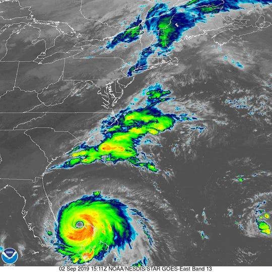 Hurricane Dorian 11 a.m. Sept. 2, 2019