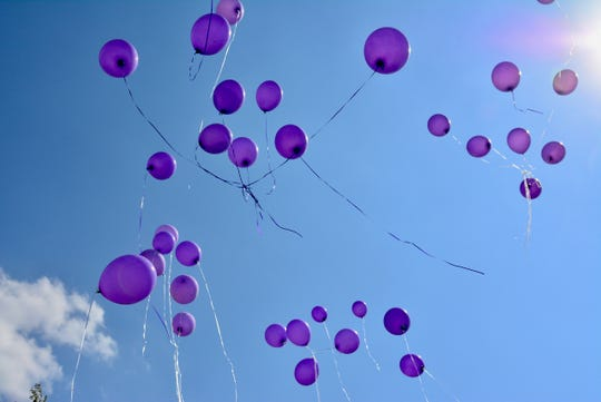 Family and friends gathered in September 2019 at the Angel of Hope Memorial Garden in Wichita Falls at the exact moment three years ago when Lauren Landavazo, 13, was shot and killed walking home from school. Purple balloons, representing Lauren's favorite color, were released.