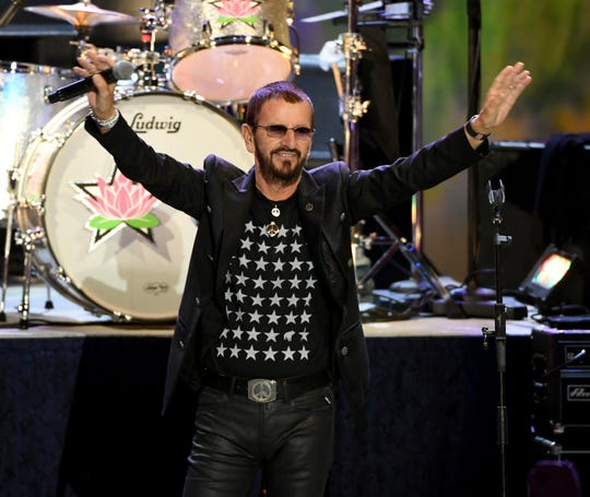 Ringo Starr performs during the Ringo Starr and his All Starr Band concert at The Greek Theatre in Los Angeles.