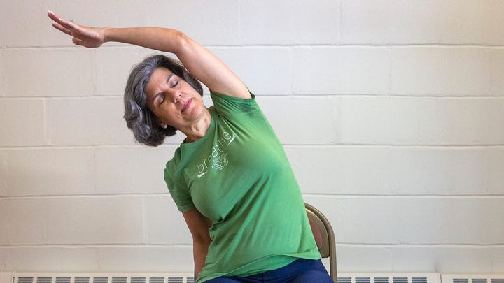 Wisdom Tree Yoga teacher in Shrewsbury knows how to ease your stress