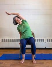 Beverly Davis-Baird, who teaches yoga at classes at the Presbyterian Church at Shrewsbury.