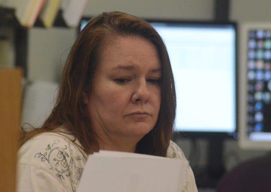 Marcia Lutz in court on Tuesday.