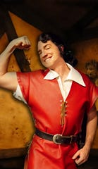 "Joe Horton turns on the charm as the evil Gaston in the Henegar Center's production of ""Beauty and the Beast."""