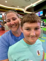 Dawn McPherson and her son, 11-year-old Jack, are staying at DIsney's Art of Animation hotel to wait out Hurricane Dorian.