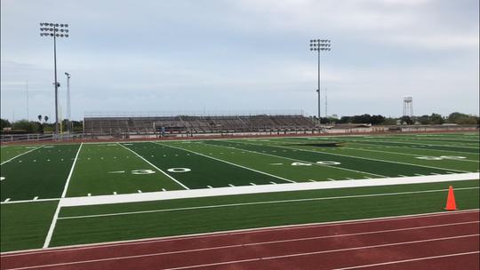 Hebbronville's new turf field/stadium