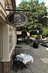 A sidewalk table awaits customers at Mare Monte, an Italian BYOB that's expected to open Sept. 8 in Haddonfield.