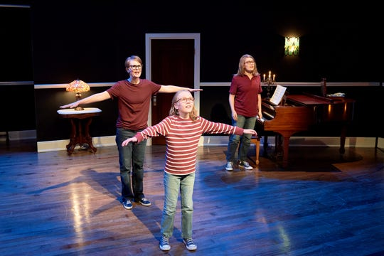 """Left to right: Natalie Bird, McKenna James Farmer and Emily Fink in """"Fun Home."""""""