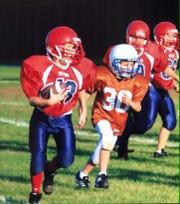 Hunter Dekkers of West Sioux outclassed defenders even in third grade