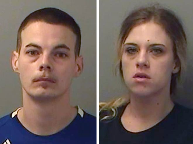 Mitchell Arnswald, left, and Stephanie Harvell were arraigned Friday, Aug. 30, 2019, on home invasion and possession of burglary tools charges. They are each being held on $50,000 cash bonds.