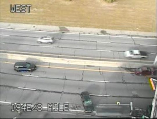 A crash closed eastbound I-94 at Eight Mile on Tuesday, September 3, state transportation officials said.