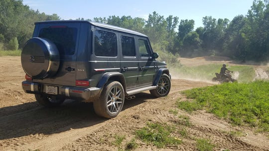 Vroom. With all-wheel-drive capability, locking differentials, and big departure and approach angles, the 2019 Mercedes-AMG G63 likes to hang out with ATVs.