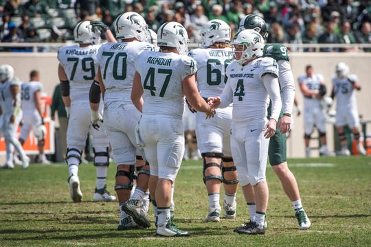 Long snapper Ryan Armour (47) is out for the season following a leg injury in the season opener against Tulsa.