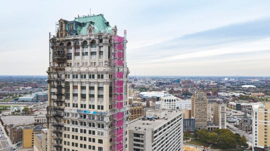 Bedrock replaced more than 2,400 historically accurate windows on the Book Building and Book Tower, shown here.