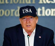 President Donald Trump speaks at the Federal Emergency Management Agency, Sunday, Sept. 1, 2019, in Washington. Trump tweeted if a trade agreement with China isn't reached before the election, a deal will become less advantageous for Beijing if he wins.