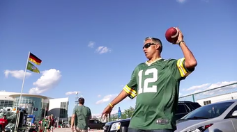 An Australian Packers fan on sabbatical from teaching, plans to attend all the Green Bay Packers and UW football games during the 2019 season.