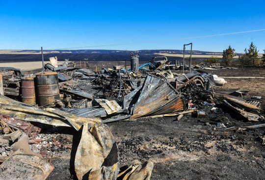 A view, from Golden Valley Loop, of the burn area from Monday afternoon's fire on the northwest side of Great Falls.
